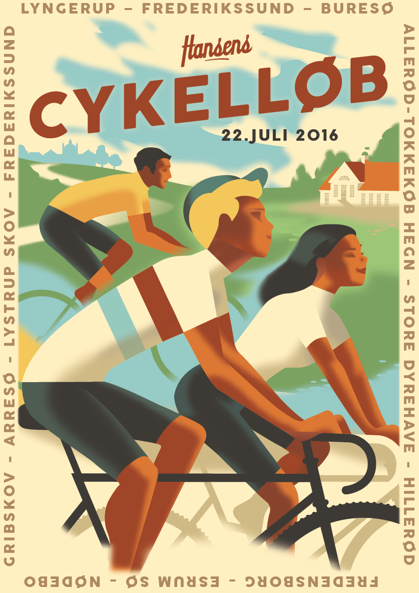 """@Behance project: """"Hansen's Bicycle Race """"by Mads Berg"""