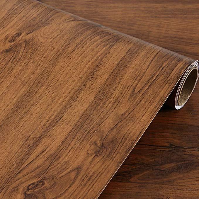 Amazon Com Walldecor1 Retro Wood Grain Contact Paper Self