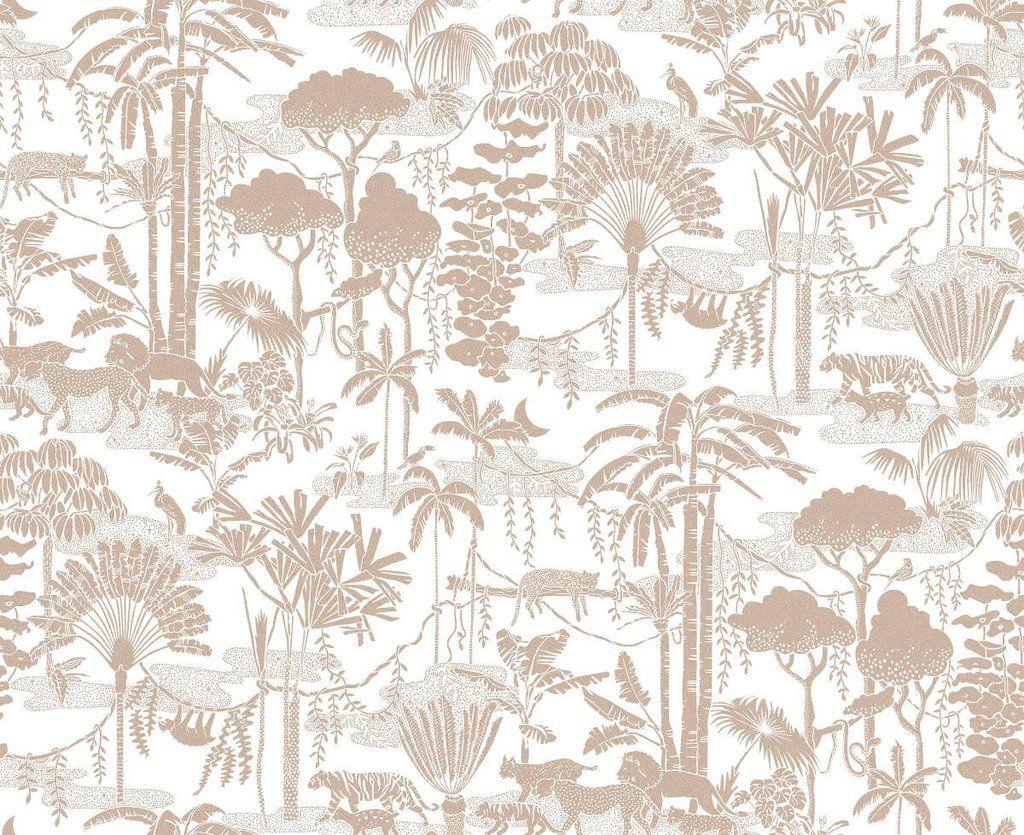Jungle Dream Wallpaper in Sphinx design by Aimee Wilder