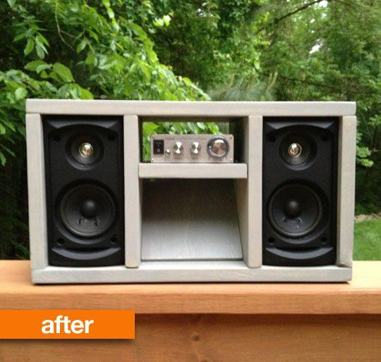 Before & After: Old Audio Speakers Transformed Into