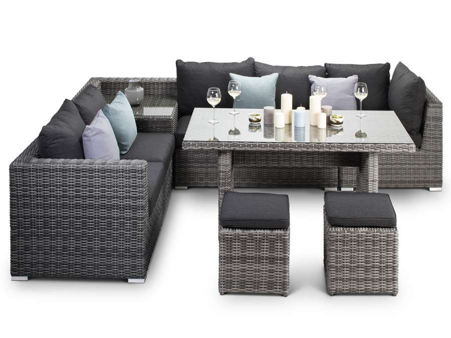 15 Romantic Rattan Garden Furniture Dining Set Collection Container Gardening Flowers Garden Grasses Landscape Design Shade Gardens Small Gardens Succu In 2020 Rattan Corner Sofa Grey Rattan Corner Sofa Corner Sofa Garden