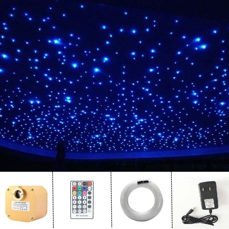 16w Twinkle Wheel Rf Remote Control Led Rgbw Star Ceiling Fiber Optic Light Kit Star Ceiling Star Lights On Ceiling Fiber Optic