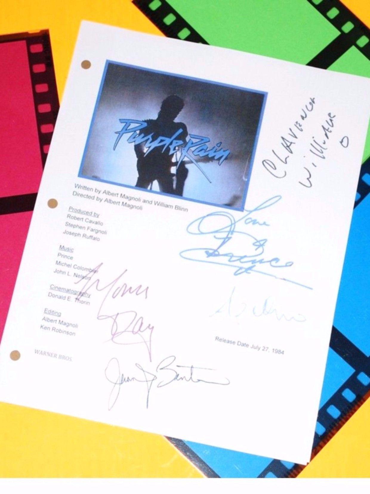 Purple Rain Movie Signed Script Autographed: Prince
