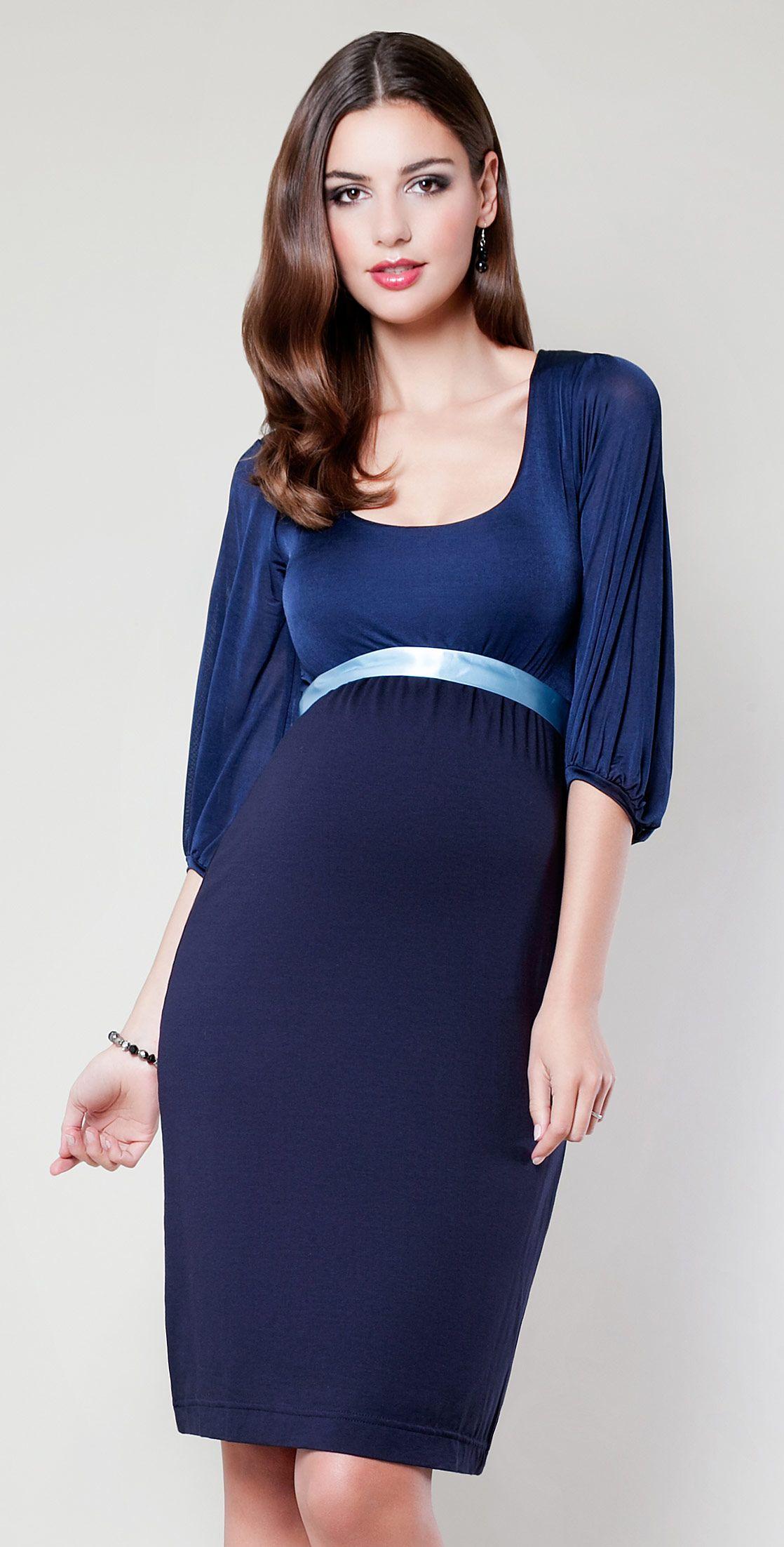 6871fe5a7728d Sienna Maternity Dress (Midnight Blue) by Tiffany Rose