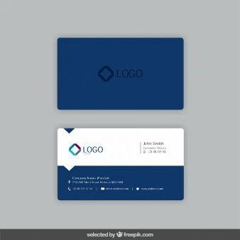 Tarjeta de visita en color azul marino | Presentation | Pinterest ...