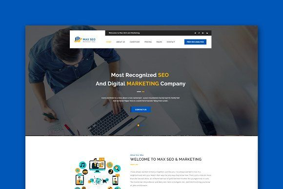 Seo & Marketing WordPress Theme @creativework247 | Themes ...