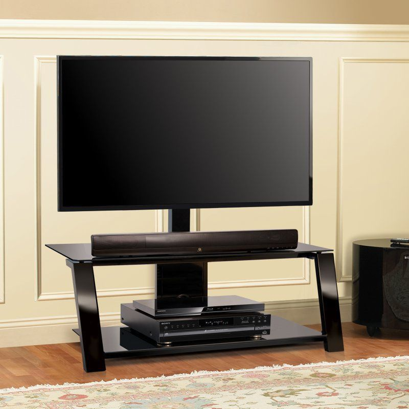 Bello Triple Play 44 In Universal Flat Panel Tv Stand Black