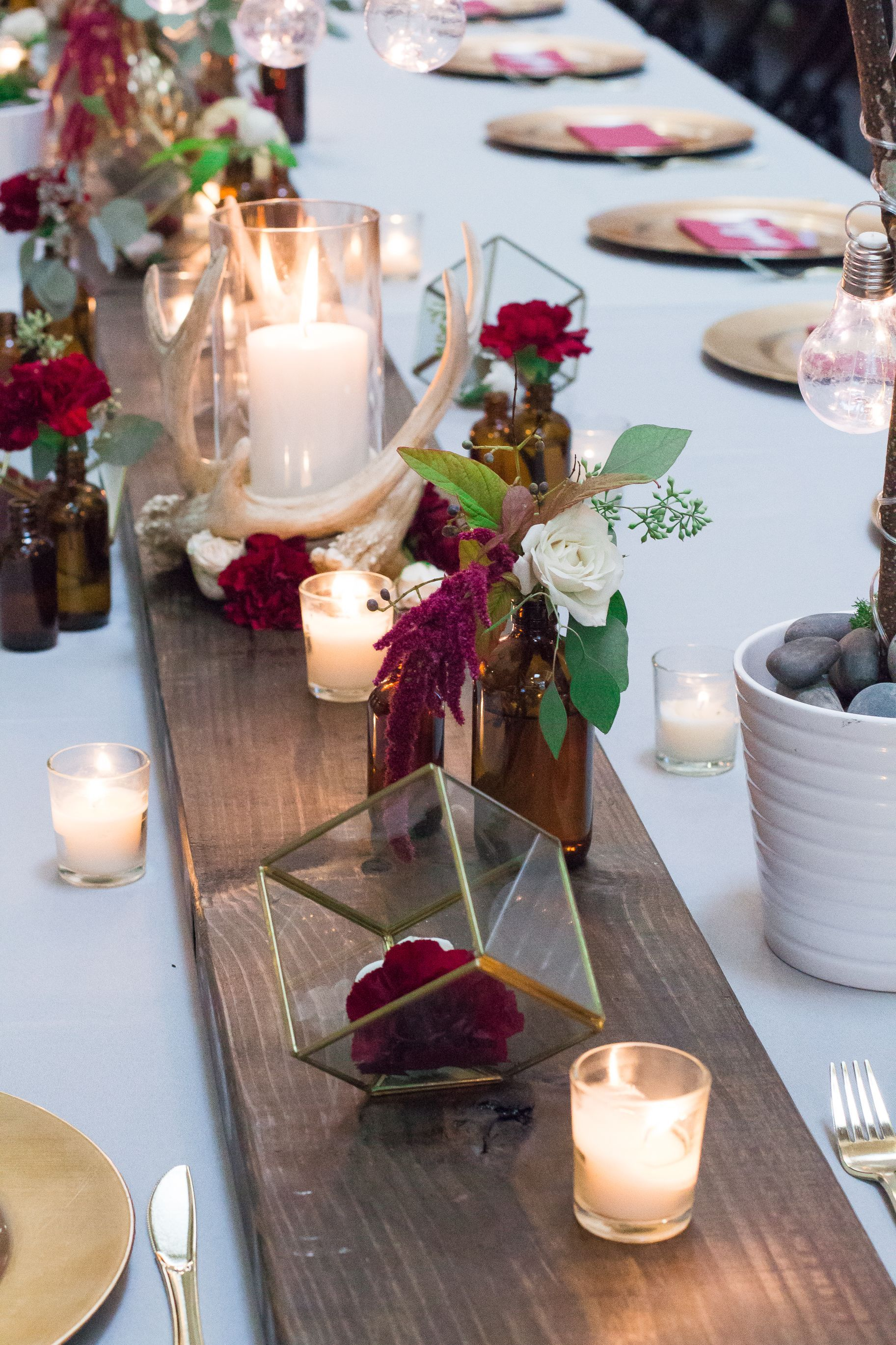 Burgundy & Gold Thanksgiving Tablescape Sweetwood Creative Co. | Atlanta Wedding Planner + Upscale Event Design