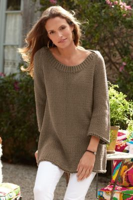Seafarer Sweater - Ribbed Boatneck Sweater, Sweaters & Cardigans | Soft Surroundings