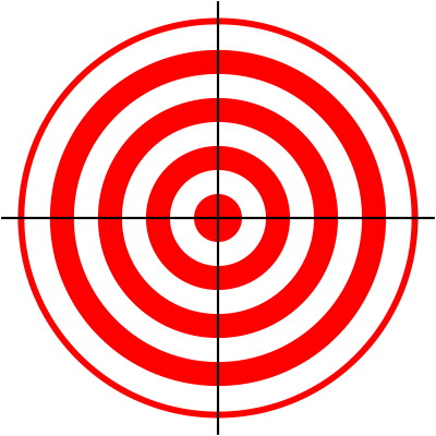 graphic about Printable Bullseye Target referred to as Bullseye Objectives Printable - ClipArt PvZ Laser tag