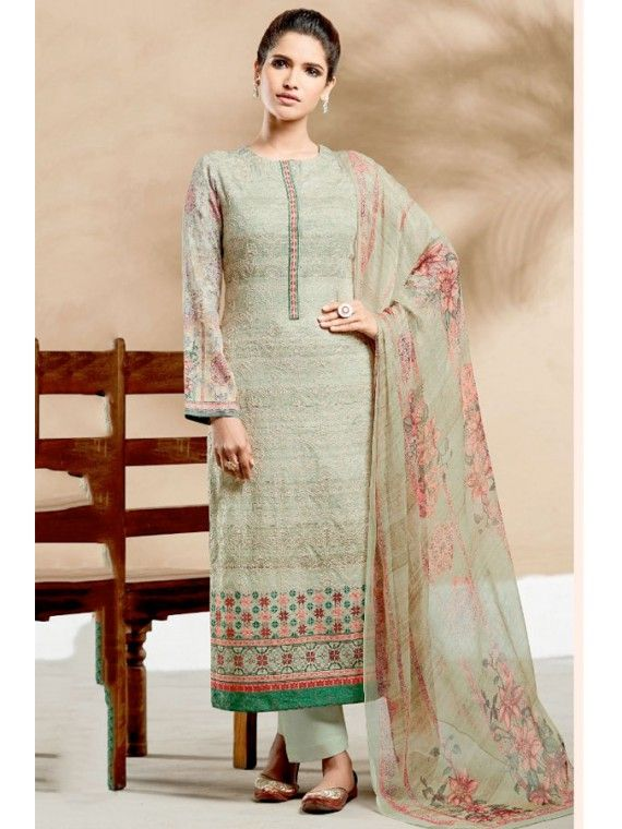 b9983a8a2c Lovely Mint Green Embroidered Dress | Impressive Indian Salwar ...