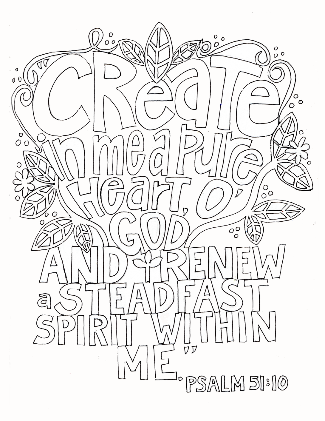 39+ Create in me a clean heart coloring page free download