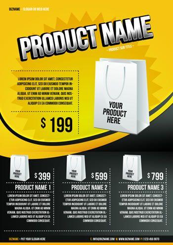 psd contoh brosur flayer produk gratis network biz id