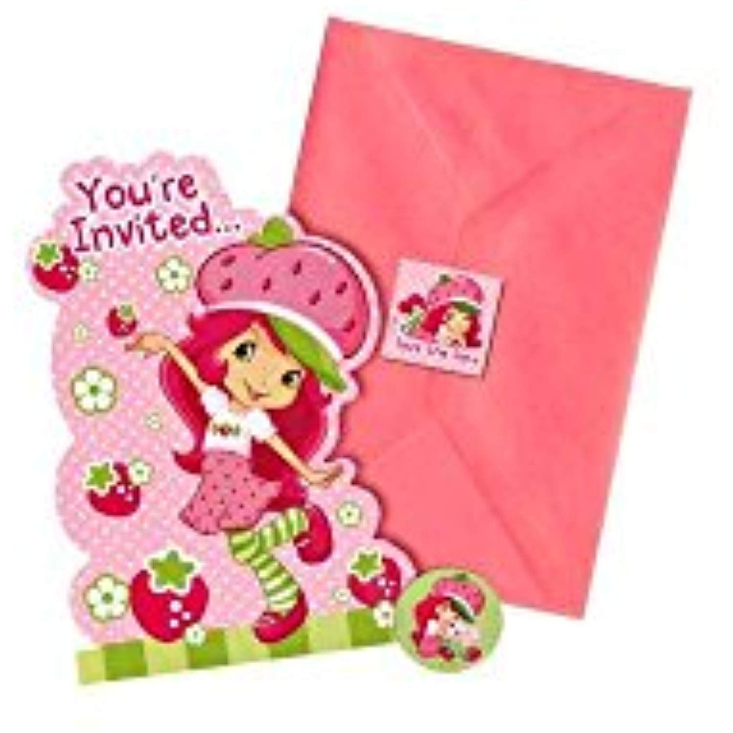 Amscan You're Invited Strawberry Shortcake Party Invitations