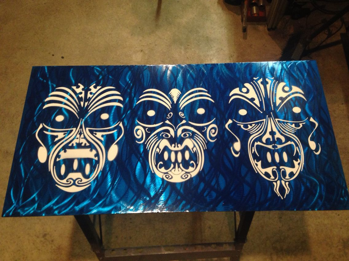 This maori tribal wall hanger i did i made a metal stencil and this maori tribal wall hanger i did i made a metal stencil and amipublicfo Images