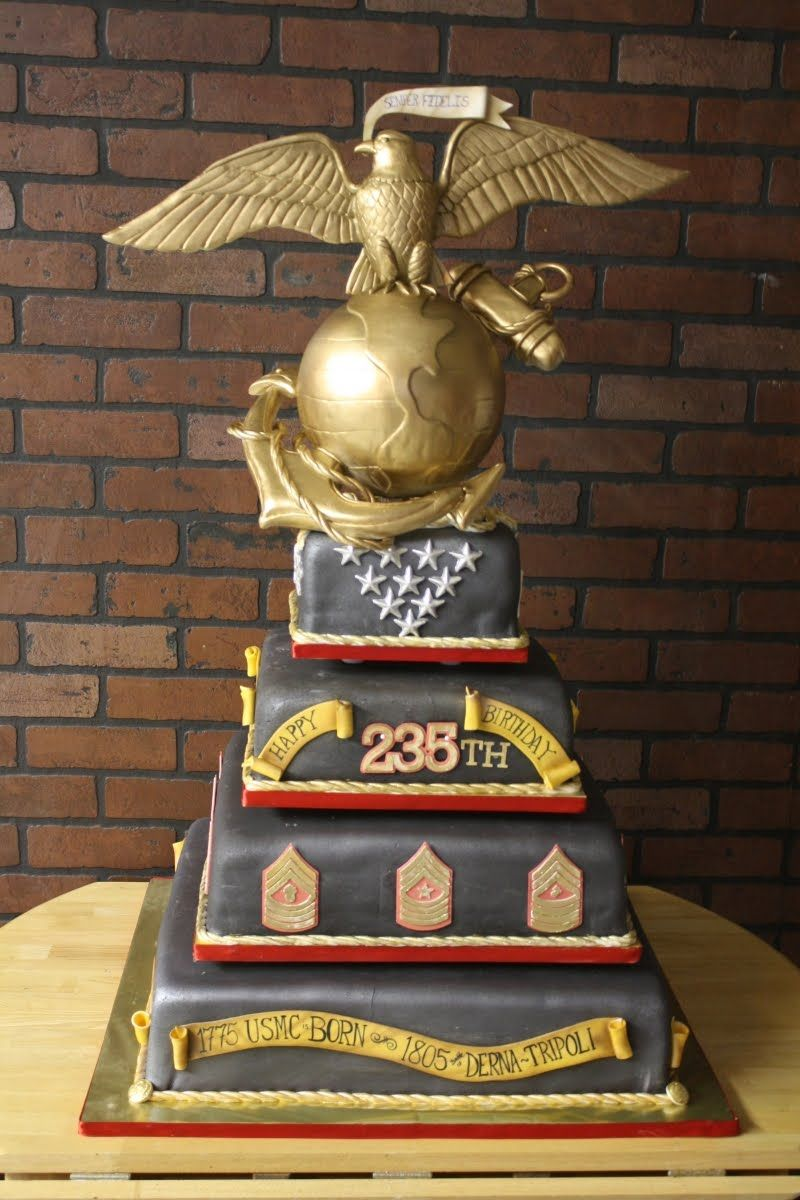 Usmc Birthday Cake Nakedcakes By Double Dee Pinterest Usmc