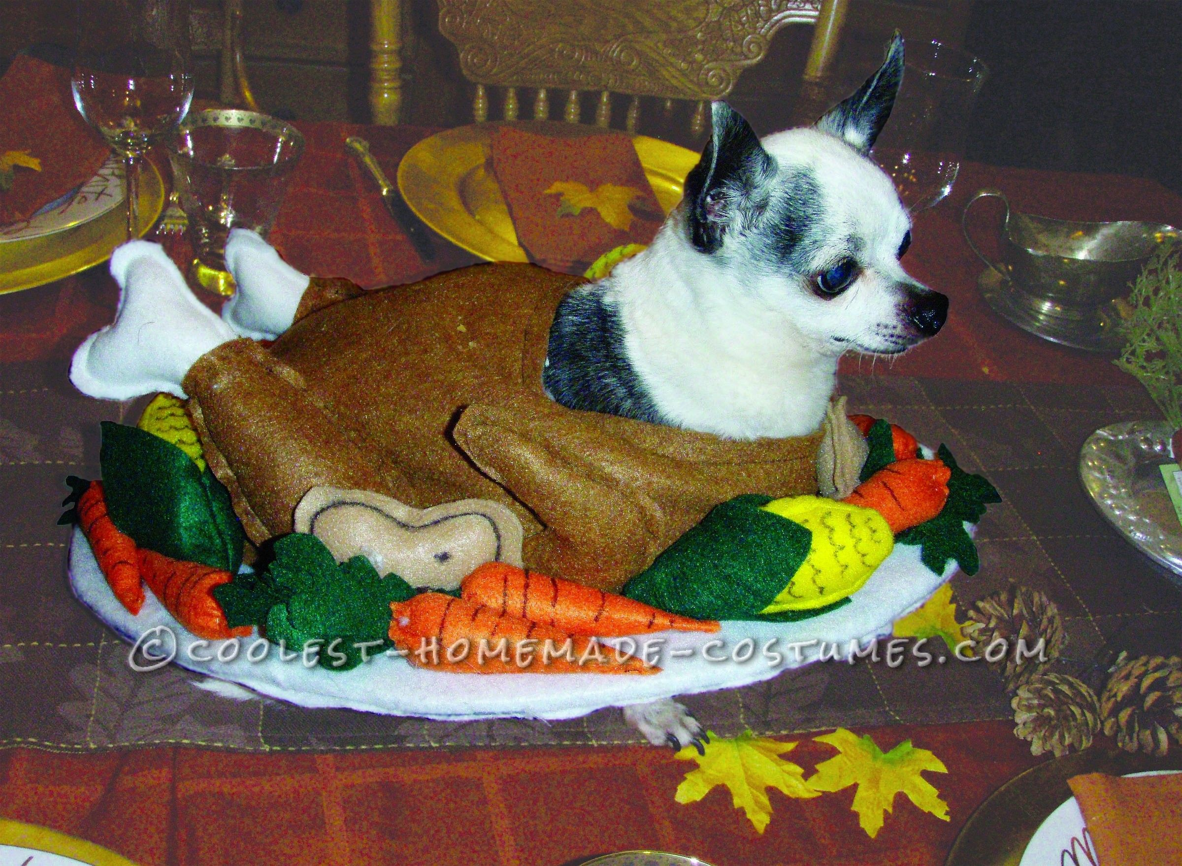 Funny Homemade Dog Costume Gobble Til