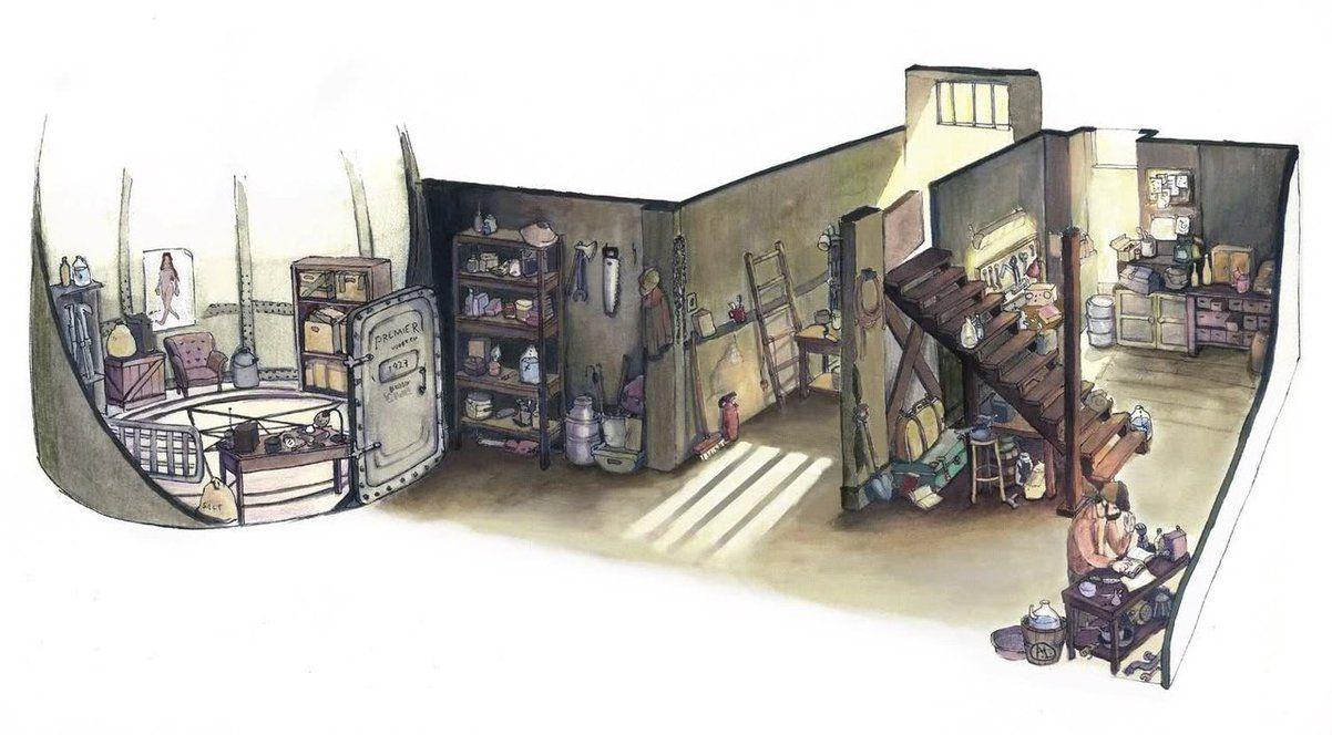 Bobby's house basement by lamapan deviantart com on