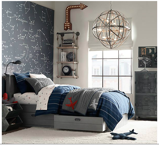 Bed For Small Bedroom Bedroom Accent Wall Ideas Little Boy Bedroom Bedroom Ideas Rectangular Rooms: Like The Accent Wall, But Don't Want A Space Theme. Love
