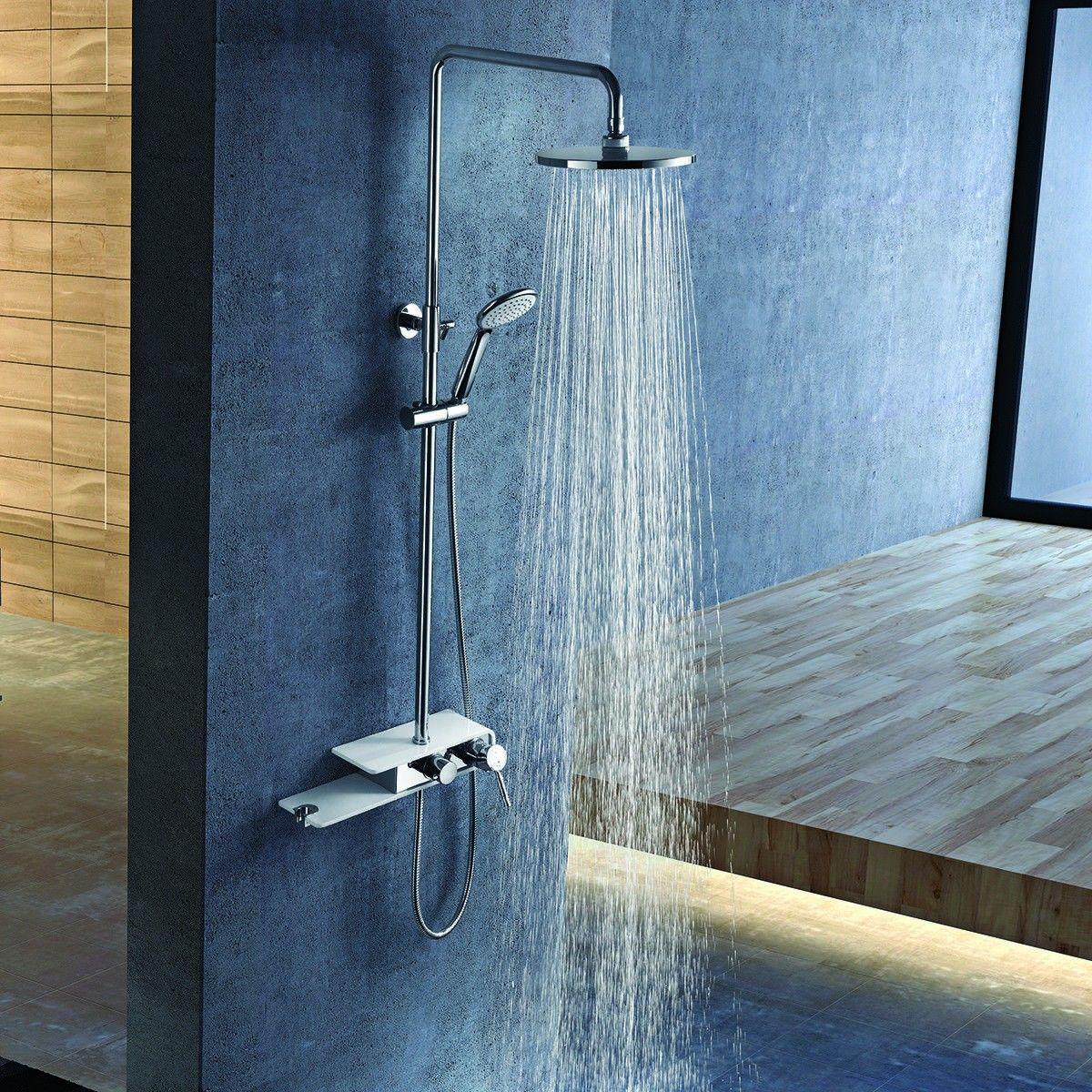 Stainless Steel Panel Rainfall Shower Column w /Hand Shower ...