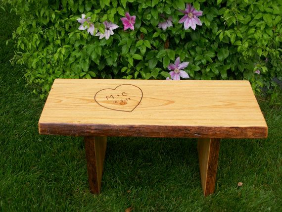 Finished 3 Foot Rustic Garden Bench Wood Outdoor Indoor Live Edge Coffee,  End Table,