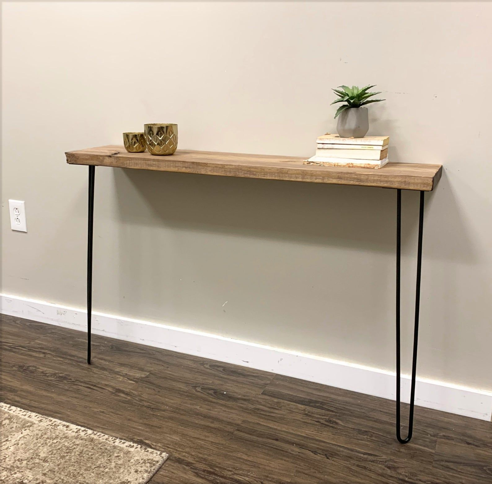 Narrow Console Table with 28 hairpin legs Farmhouse Etsy