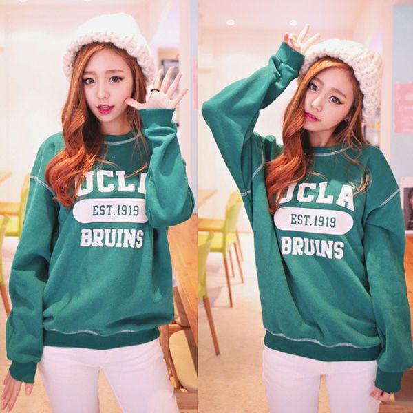 Qnigirls New Womens UCLA Sweatshirt Jersey Cute Lovely Style #Qnigirls #SweatshirtCrew