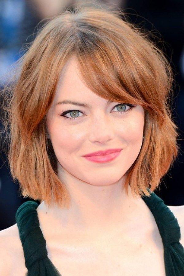 Emma Stone Celebrity Bob Haircuts Bob Haircuts For Fine Hair