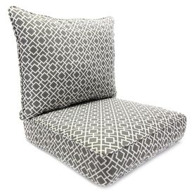 Jordan Manufacturing Poet Gray Geometric Cushion For Deep Seat Chair 9