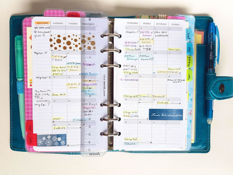 My Current Main Planner Setup December
