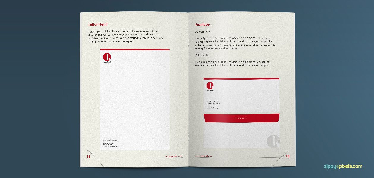 Corporate Identity Guidelines Template - Brand Book | Pinterest ...