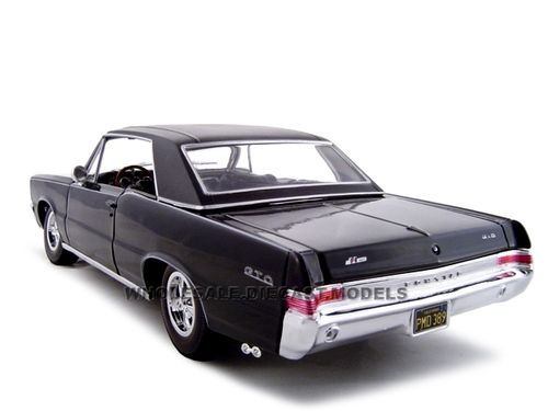 1965 Pontiac GTO Hurst Black 1/18 Diecast Model Car Maisto 31885