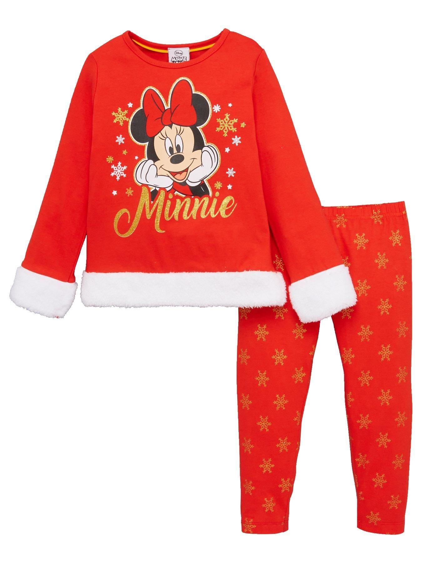 Girls Christmas Pyjamas Red Girls christmas pajamas