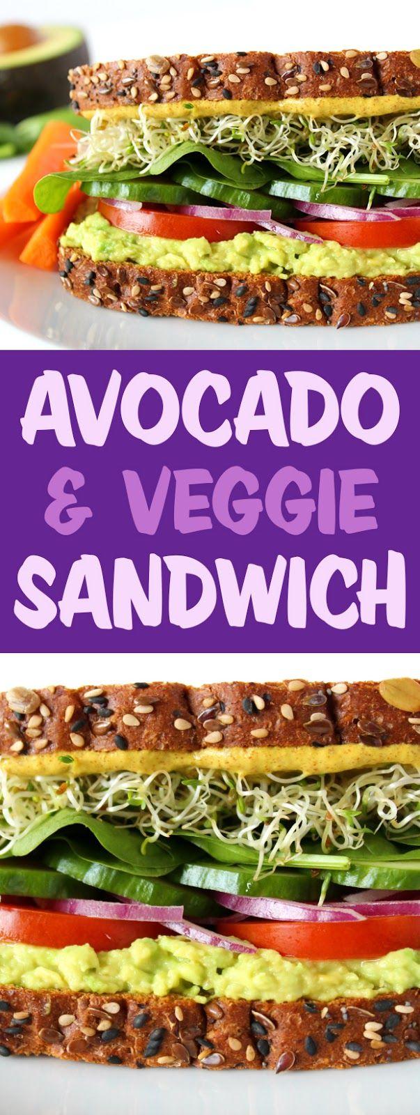 Avocado Veggie Sandwich images