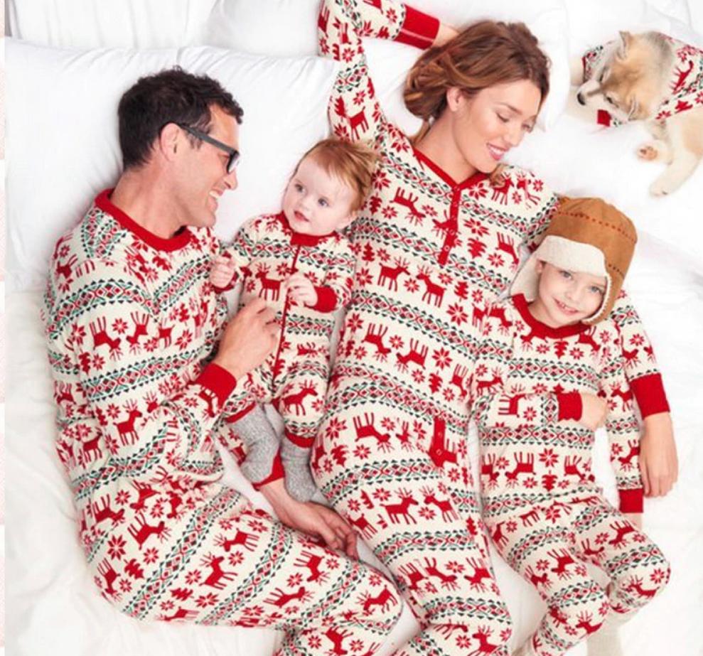 Landove Pyjama 2 Piece Ensemble No/ël Famille Tenue Identique Parent Enfant