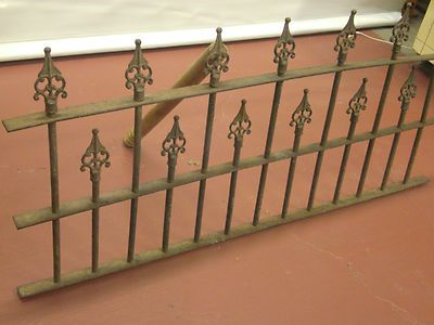 Antique Architectural Wrought Iron Fence Section Great Accent