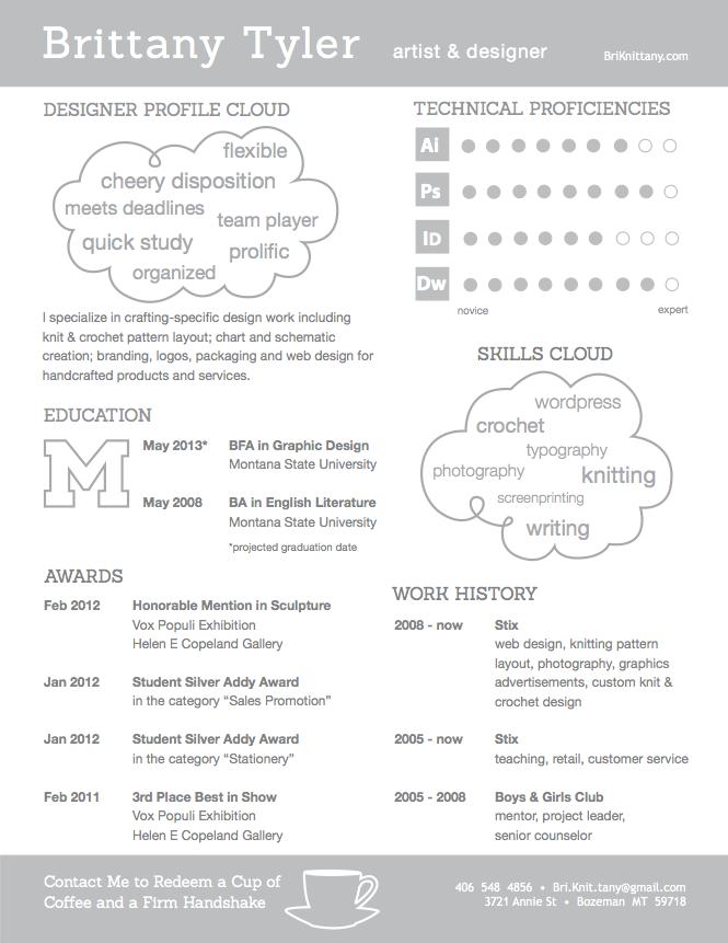 pretty graphic designer resume