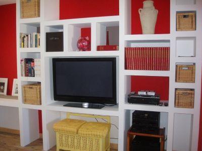 Salon Chambre Fabrique En Placo Platre Vous Avez Construit Une Etagere Sur  Also Rh Pinterest
