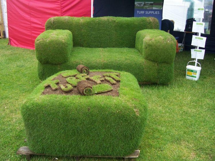 Grassofa Selber Bauen Kuenstlich Gestaltung Couch Hocker