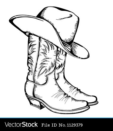 Single Cowboy Boot Outline Google Search Cowboy Hat Drawing Wood Burning Patterns Cowboy Draw