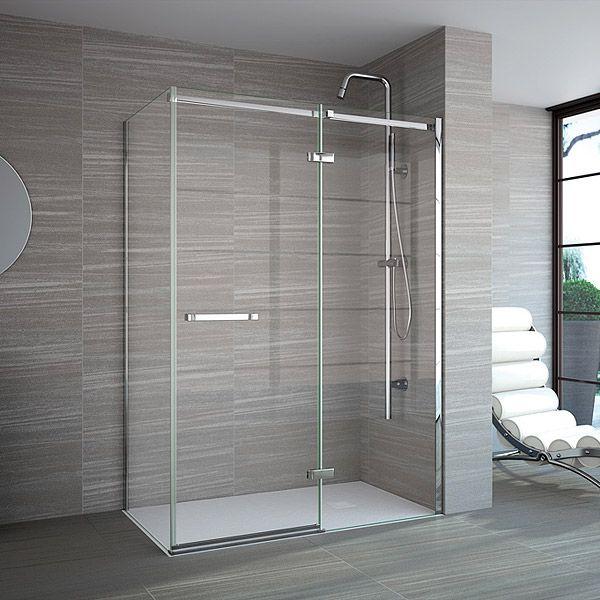 Merlyn Series 8 Frameless Hinge And Inline Door 1000 A0611rf A0611rf Shower Doors Shower Remodel Fiberglass Shower