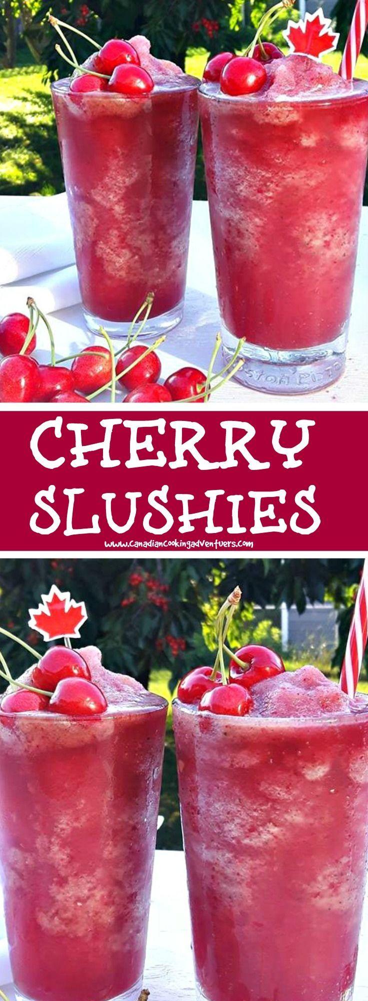Cherry Slushies Slushies Slushie Recipe Recipes