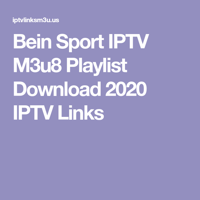 Pin Di Free M3u Iptv Links
