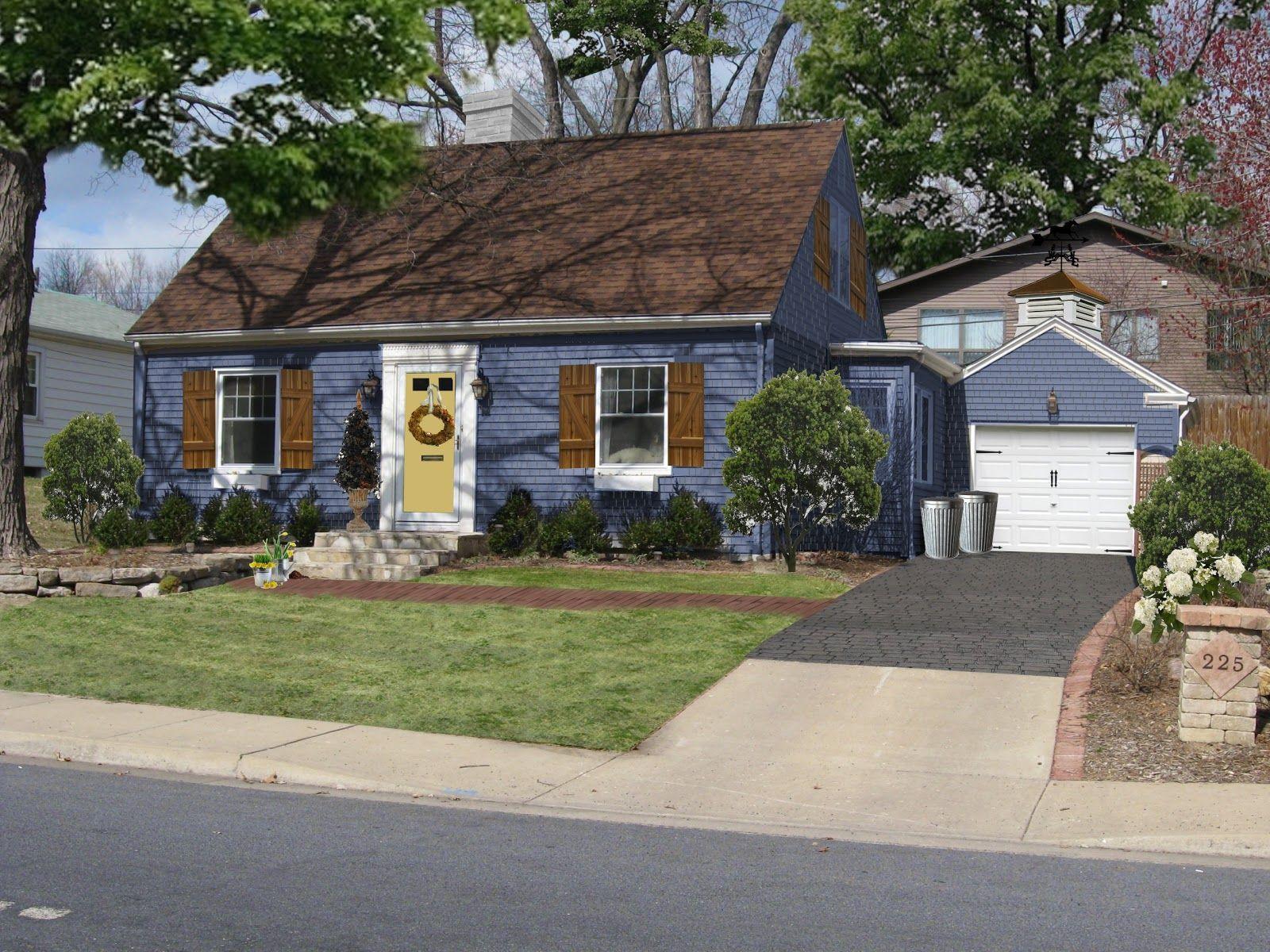 Best Blue Cedar House House Exterior Blue House Paint 640 x 480