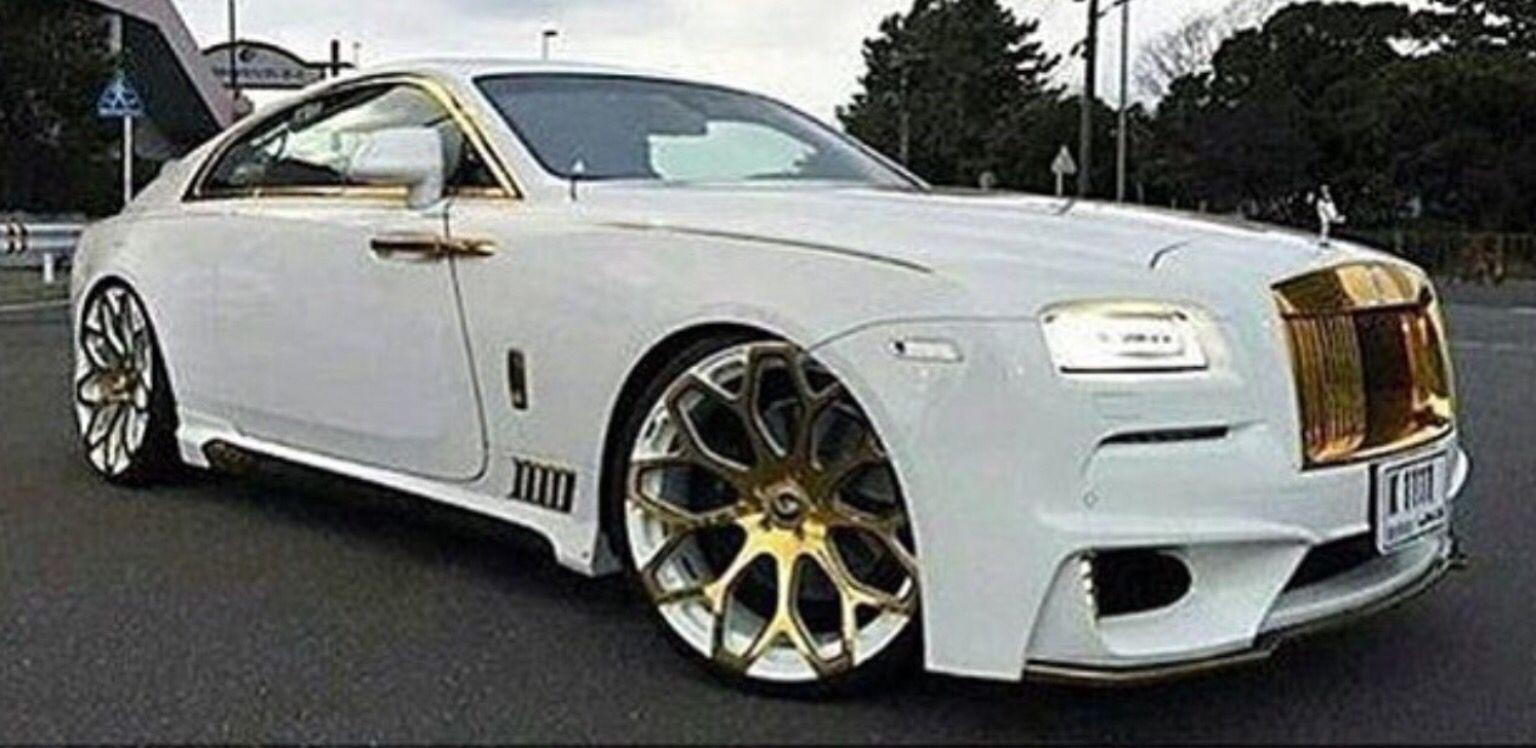 White & Gold Rolls Royce