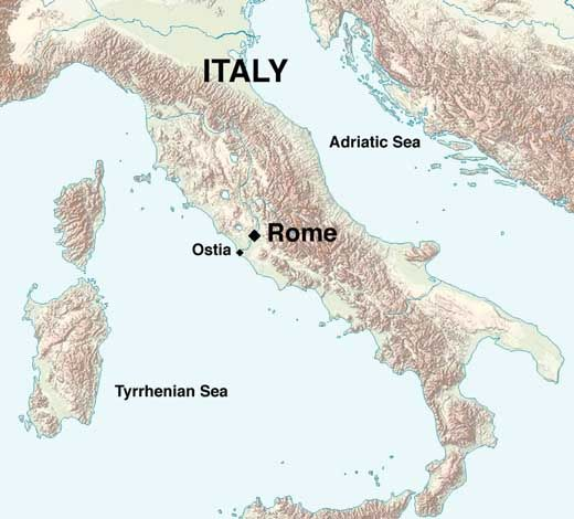 Map Of Ostia Maps Of The Ancient World Pinterest Photo Essay