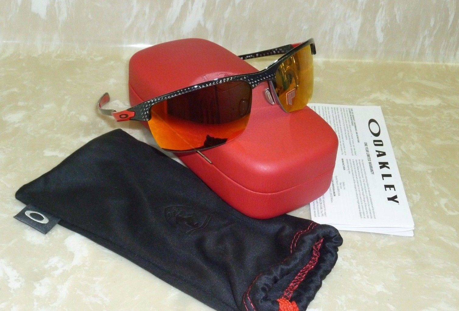 2d5cf78c06 ... ireland brand new oakley ferrari scuderia carbon blade polarized  sunglasses oo9174 06 e007a b0abd