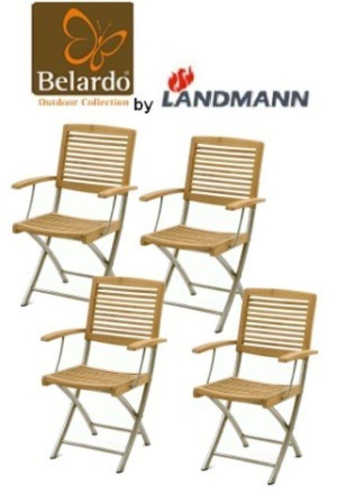 5er Set Belardo by Landmann Klappstuhl Garten Stuhl aus Teakholz und ...