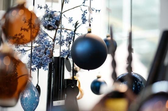 Decoratie Kerst 2015 Donkerblauw En Oranje Kerstballen Z