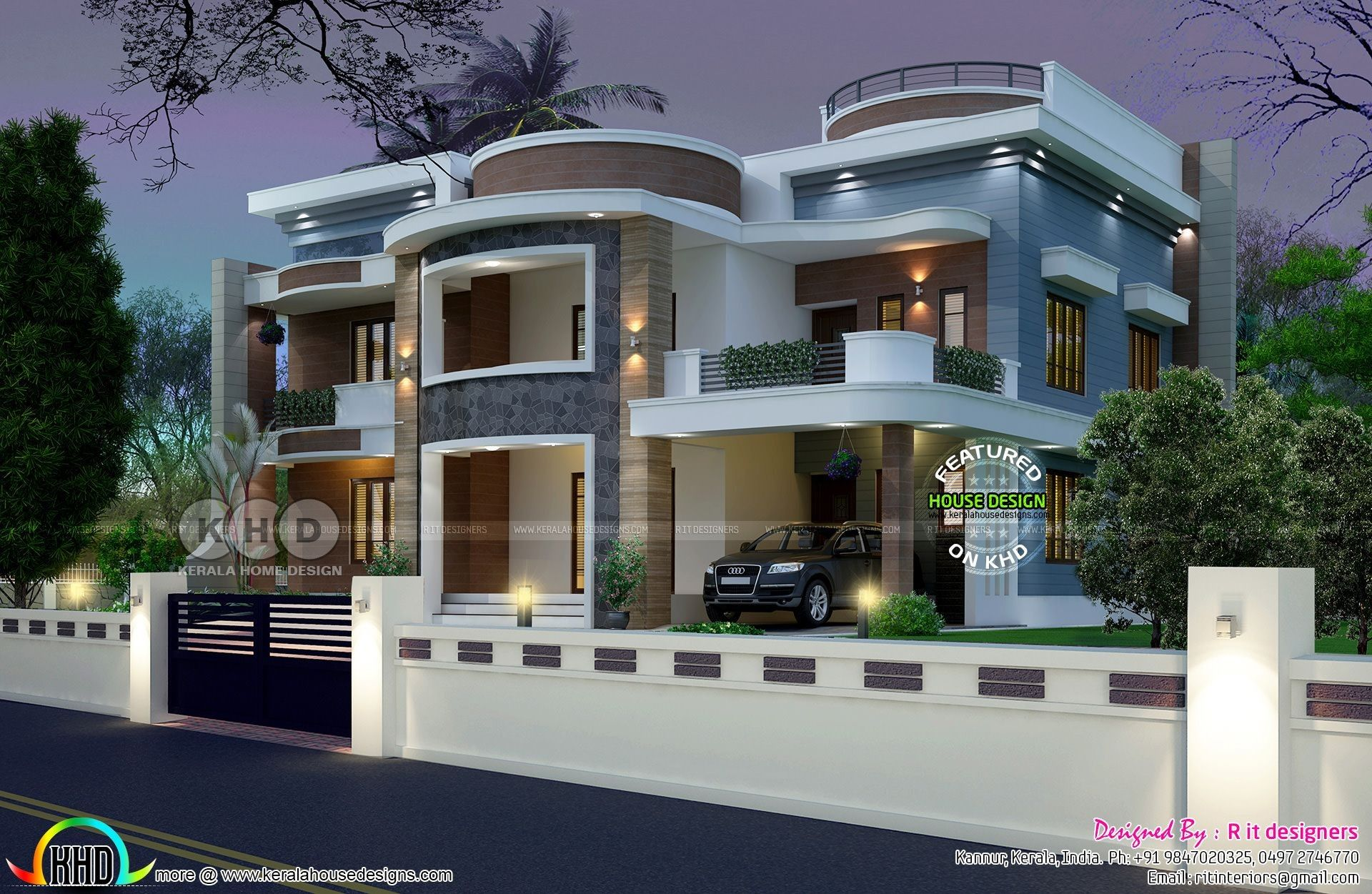 Front House Design With Bricks Philippines Inspirational Kerala Home Design And Floor Plans Of Fro Kerala House Design 6 Bedroom House Plans Modern House Plans